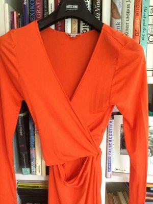 Parenti's Seidenkleid in Mandarinen- Orange