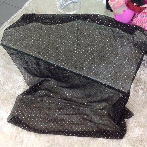 Pareo schwarz mit glänzendem Pünkchen