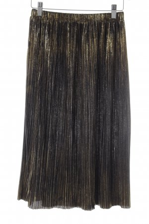 Parfois Pleated Skirt gold-colored-black elegant