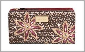 PARFOIS Portemonnaie Geldbeutel Geldbörse Gr. M Braun Gold Rosa