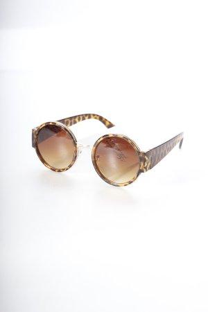 Parfois runde Sonnenbrille braun-hellbraun Animalmuster Retro-Look