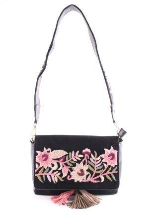 Parfois Bandolera negro estampado floral elegante