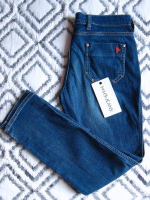 Mih jeans 3/4 Length Jeans azure-blue cotton