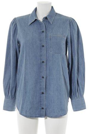 Paris Atelier Camisa vaquera azul aciano look casual