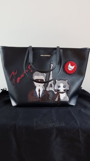 Paris Choupette Shopper mit Pailetten