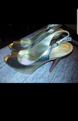 Paris Hilton High Heels Plateau gold Gr 40