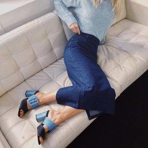 Sandalias de tiras azul-azul celeste