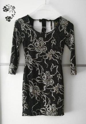 Parisian Glitzer Party Abend Kleid mit Rückenausschnitt Gr. S/M