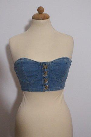 Parisian Cropped shirt korenblauw Katoen