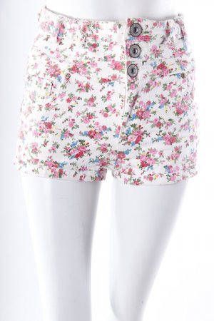 Parisian Jean Shorts floral pattern