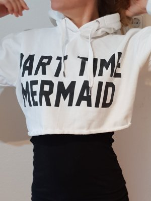 Parisian 'Part Time Mermaid' Cropped Hoodie