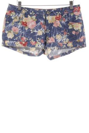 Parisian Shorts blau-rosa Blumenmuster Beach-Look