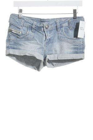 Parisian Shorts kornblumenblau Washed-Optik