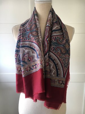 Modern vintage Summer Scarf multicolored cotton