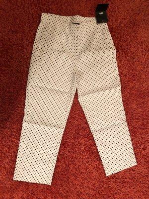 Parisienne 3/4 Length Trousers white-black