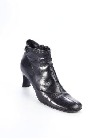 Parisienne Reißverschluss-Stiefeletten schwarz Schnallenelemente