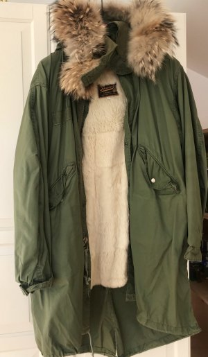 Barbed Giacca di pelliccia cachi-verde bosco
