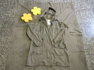 Yessica Parka olive green cotton