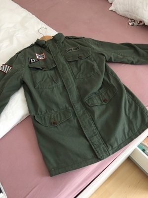H&M Parka green grey-khaki