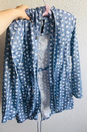 Primark Parka blanco-azul celeste