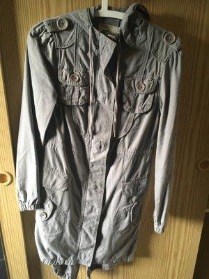 Parka, BlendShe, grau, XS, mit vielen Taschen und Details, Kapuzenparka