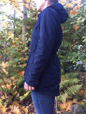 Cross Short Coat dark blue polyester