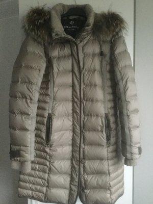 Milestone Manteau en duvet argenté-chameau