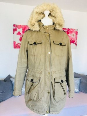 Yessica Parka sand brown cotton