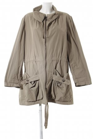 Parka grey brown Mother-of-pearl buttons