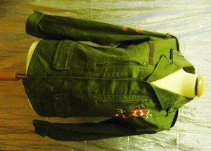 PARKA Grün ARMY Military mit Stickereien Faktorei Geheim Größe M