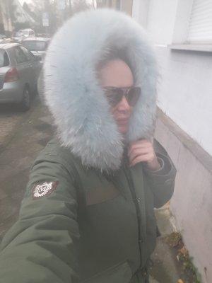 Parka Jacke Mantel Militär Grün