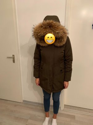 Parka Jacke mit echt Pelz Winterjacke