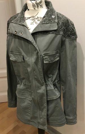 Parka Jacke von Oui Gr.42 oder oversized Look military khaki