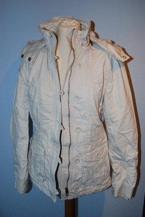 Parka / kuschelige Jacke in ganz hellem grau Gr. 36/38