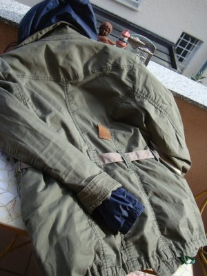 H&M Parka groen-grijs-khaki