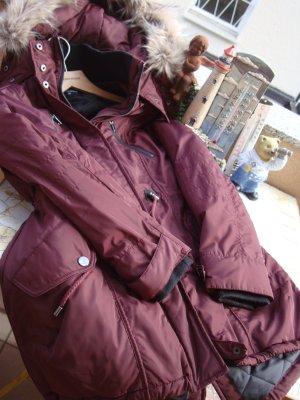 PARKA MANTEL JACKE WINTERJACKE WINTERMANTEL Gr. S/M/L 36/38/40, OVERSIZE-STYLE NEU NEUPREIS 119,99€ burgund bordeaux dunkelrot changierende Farben
