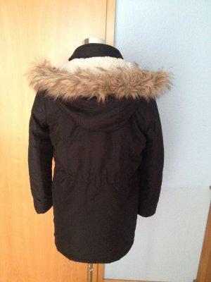 Parka mit abnehmenbarer Fake Fur Kapuze, Größe 36/38