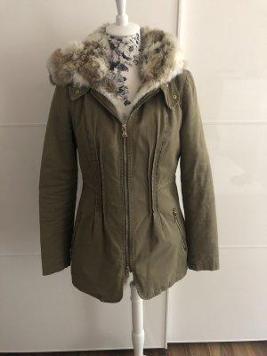Witty Knitters Fur Jacket khaki