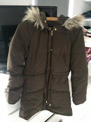 Parka mit Fell H&M Khaki Winterjacke