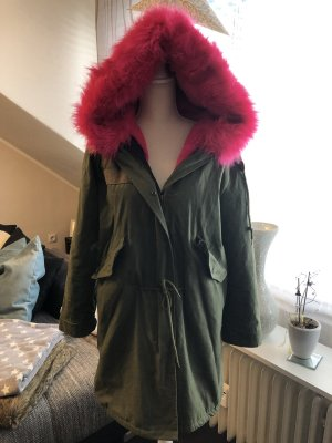 Parka taupe-pink