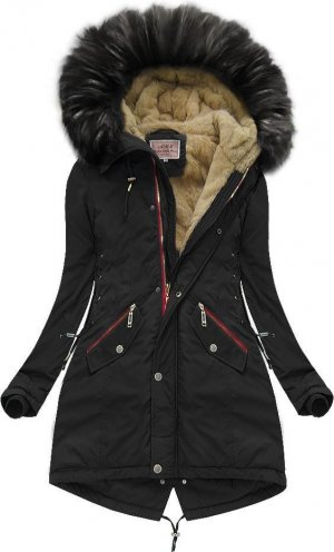 Oversized Jacket black-gold-colored