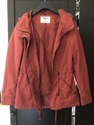 Only Parka rouille-rouge carmin