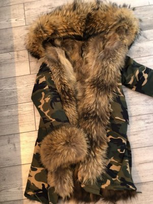 Parka Pelz camouflage khaki Echtfell
