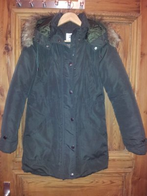Vero Moda Manteau à capuche vert foncé