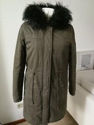 Tom Tailor Hooded Coat dark green cotton