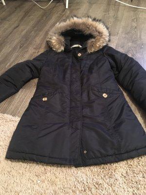 Manteau en duvet bleu-noir coton