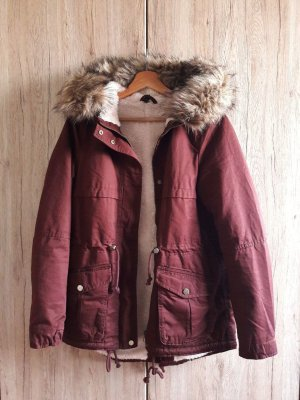 Parka Winter Jacke weinrot bordeaux Gr. 36