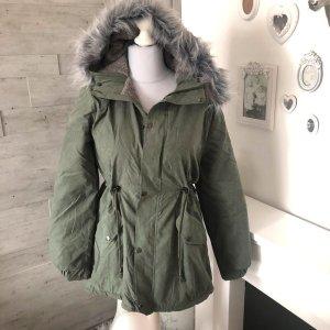 Parka Winterjacke Khaki Grün XL 42 Jacke Mantel Kurzmantel