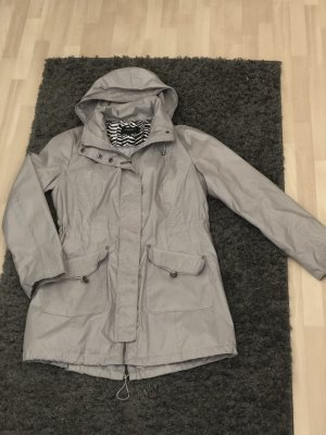 Bexleys Parka gris claro-color plata