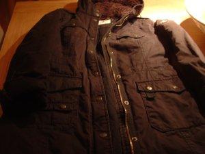Esprit Hooded Coat black cotton